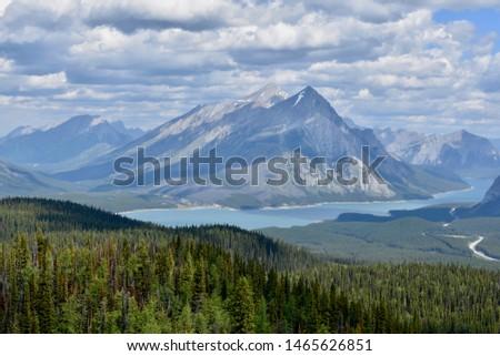 Beautiful Rocky Mountain lake in the Canadian Rockies #1465626851