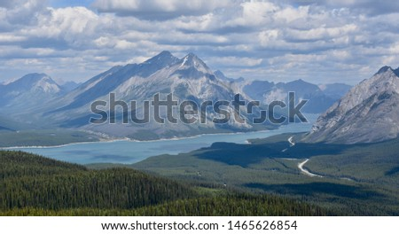 Beautiful Rocky Mountain lake in the Canadian Rockies #1465626854
