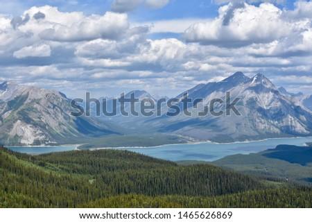 Beautiful Rocky Mountain lake in the Canadian Rockies #1465626869
