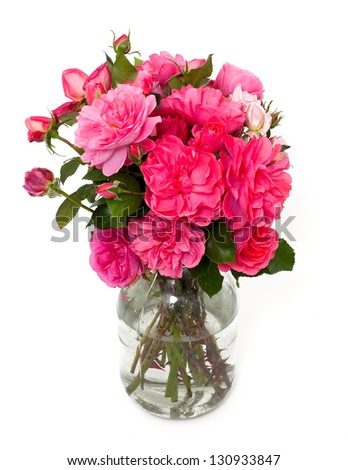 beautiful roses in jar