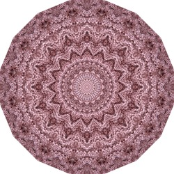 Beautiful round ornament with knitted mandala pattern. Print for carpet, rug, doily, napkin.