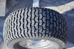 beautiful rubber pattern of one large wheel