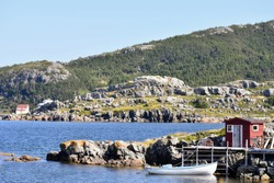Beautiful, rugged and scenic outport community in Newfoundland and Labrador, Canada