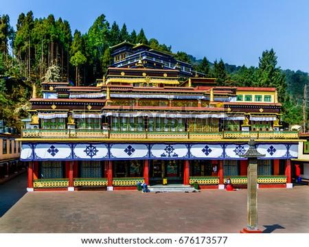 Beautiful Rumtek Monastery in Sikkim, India. - Shutterstock ID 676173577