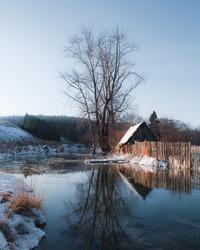 beautiful rural landscape in Russia near river