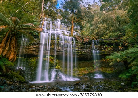 Beautiful Russell Falls, Mount Field National Park, Tasmania, Australia #765779830