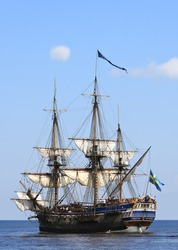 Beautiful sailing ship in Baltic sea, Sweden - Scandinavia