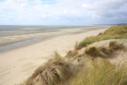 Beautiful sand beach in Le-Touquet-Paris-Plage, Côte d'Opale, France