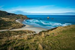Beautiful Sandfly Bay near Dunedin, New Zealand