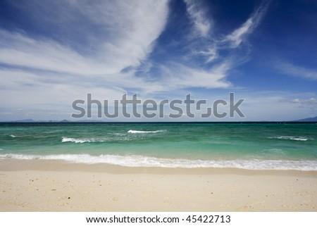 Beautiful sandy beach, Bamboo beach, Thailand