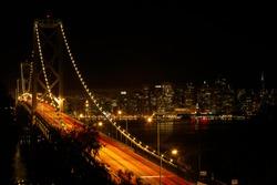 Beautiful Sanfrancisco dowtown view from Bay bridge