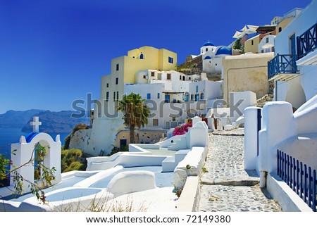 beautiful Santorini Oia town view