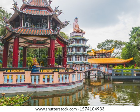 Beautiful scenery at Haw Par Villa,  the Tiger Balm Brothers parc in Singapore. Stock photo ©