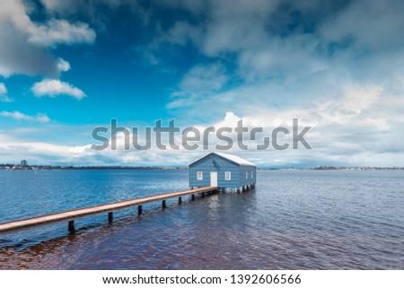 Beautiful scenery at Matilda Bay boathouse in the Swan River in Perth, Western Australia.