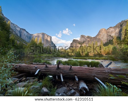 Beautiful scenery at Yosemite National Park, California