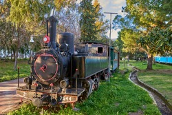 Beautiful scenery from Kalamata Municipal Railway Park. It is the only open air museum of its kind in Greece and popular among all railway friends worldwide. Kalamata