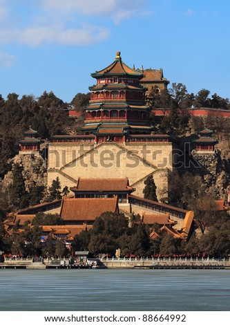 Beautiful scenery in the Summer Palace, Beijing, China