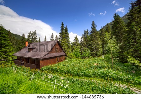 Beautiful scenery of Tatra mountains in Poland