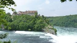 Beautiful scenery of the Laufen Castle over the Rhine falls