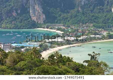 Beautiful Scenery seen from Koh Phi Phi Viewpoint on Koh Phi Phi Island, Thailand, Asia