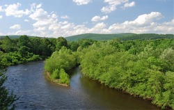 Beautiful scenic eastern Pennsylvania countryside