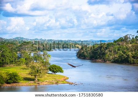"""Photo of  Beautiful Scenic Landscape Photography San Juan River, Nicaragua. """"El Castillo"""" Fortress View. Peaceful Stream of Water."""