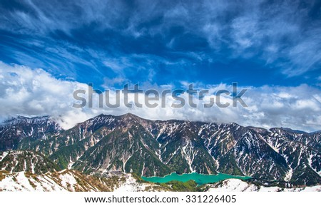 Beautiful scenic of Japan alps at Tateyama mountain #331226405