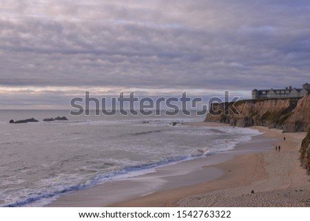Beautiful scenic view of Half Moon Bay, California, America
