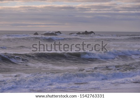 Beautiful scenic view of Half Moon Bay, California, America #1542763331