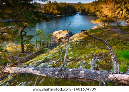 Beautiful scenics of landscapes waterscapes sunsets and lake reflections in Canada's pacific north west around Vancouver British Columbia Canada.  Fine art photography for home and office decor. #1401674909