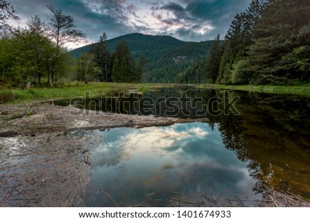 Beautiful scenics of landscapes waterscapes sunsets and lake reflections in Canada's pacific north west around Vancouver British Columbia Canada.  Fine art photography for home and office decor. #1401674933