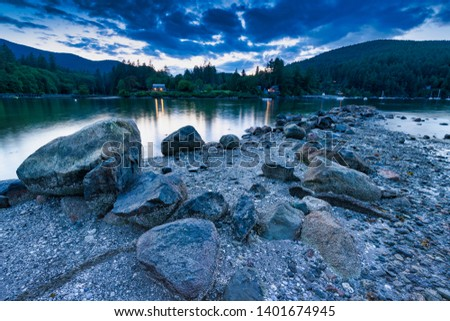 Beautiful scenics of landscapes waterscapes sunsets and lake reflections in Canada's pacific north west around Vancouver British Columbia Canada.  Fine art photography for home and office decor. #1401674945