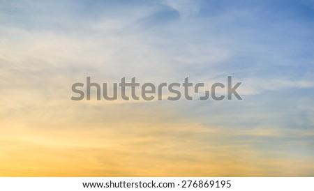Beautiful screen of sunset sky.