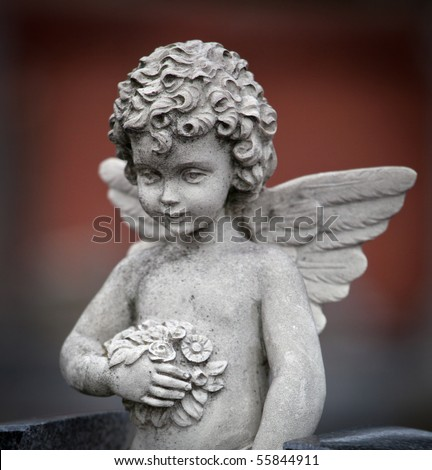 Beautiful sculpture at a cemetery in Melbourne Australia