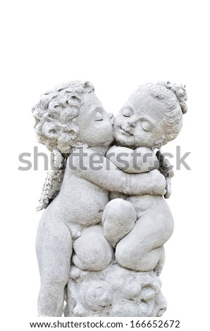 Beautiful sculpture on white background