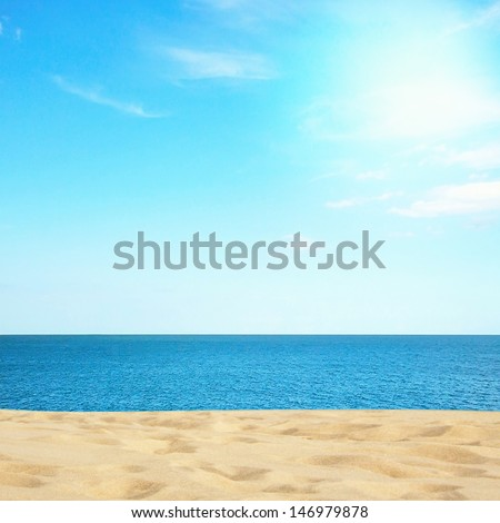 Stock Photo Beautiful sea and beach