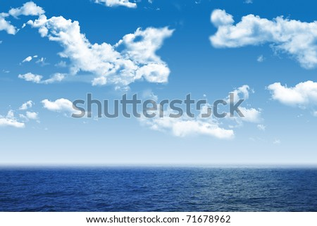 Beautiful sea and clouds sky