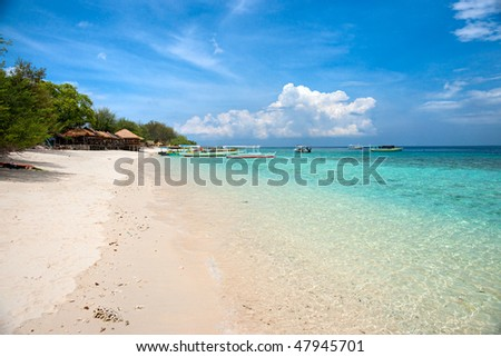 Beautiful Sea And Coastlines Of Gili Meno, Indonesia. Stock Photo ...