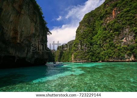 Beautiful sea at Koh Phi Phi (Phi Phi Islands), Krabi Province, Thailand.