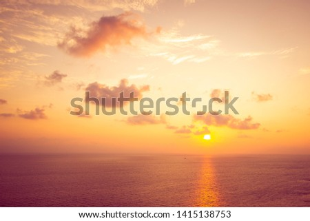 beautiful sea at sunset summer nature background #1415138753
