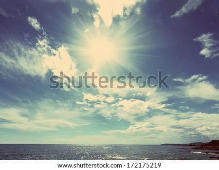 beautiful sea landscape with...