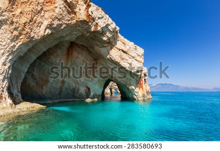 Stock Photo Beautiful sea landscapes on Zakynthos Island in Greece