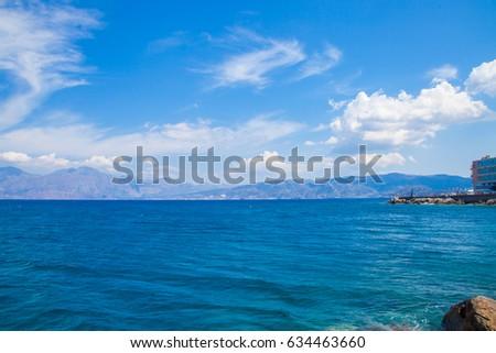 Beautiful sea near to Agios Nikolaos, Crete, Greece #634463660