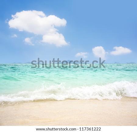 Beautiful sea sand and sky