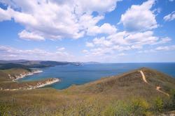 Beautiful sea scape, shore of Primorsky krai, Russia