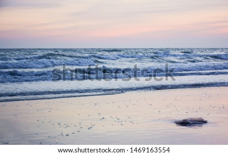 Beautiful sea view at twilight time