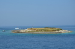 beautiful sea view in croatia, Kamenjak Istria, Croatia