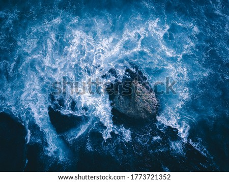Photo of  Beautiful Sea water blown by the wind - HD Image