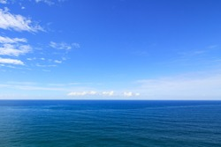 Beautiful sea with blue sky on sunny day