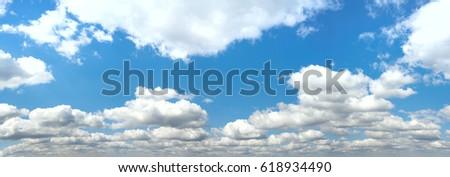 Beautiful Seamless  blue sky panorama